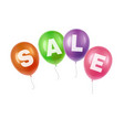 balloons with sale vector image vector image