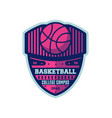 basketball college campus vintage label vector image vector image