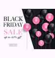 black friday sale banner can be used for website vector image