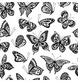 butterflies pattern romantic flying butterfly vector image