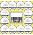Calendar for 2015 on the background of cheese vector image