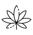 cannabis leaf icon outline style vector image
