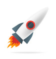 cartoon rocket space ship isolated on white vector image
