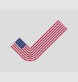 check mark usa flag modern style united states vector image