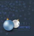 Christmas blue decoration with snowflakes and