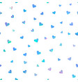 color heart confetti seamless pattern on white vector image