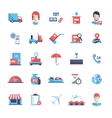 Delivery service modern flat design icons and vector image vector image