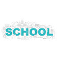 design concept of word school website banner vector image