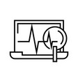 diagram changing line icon concept sign outline vector image