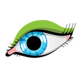 draw female eyes on a white background vector image