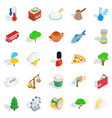 england icons set isometric style vector image vector image