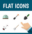 flat icon dacha set of trowel hothouse grass vector image vector image