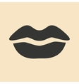 Flat in black and white mobile application lips vector image vector image