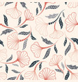 floral seamless pattern flower artistic drawn vector image vector image