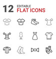 garment icons vector image vector image