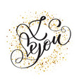 hand written inscription i love you on the vector image vector image
