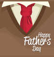 happy fathers day card lettering over clothes man vector image