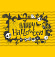 happy halloween banner with characters vector image