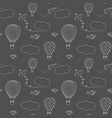 hot air baloons seamless pattern vector image vector image