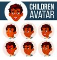 indian boy avatar set kid high school vector image vector image