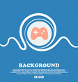Joystick sign icon Blue and white abstract vector image