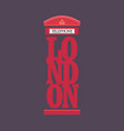 london red telephone booth poster design vector image