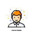 male user avatar of startup founder icon of boy vector image