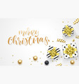 merry christmas holiday background template vector image vector image