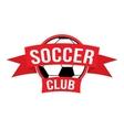 New soccer club logo vector image vector image