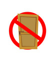 no exit sign isolated on a white background vector image vector image