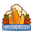 oktoberfest bavarian logo cartoon style vector image