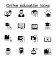 online education icons set graphic design vector image