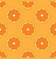 orange fruit seamless flat color vector image