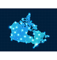 pixel Canada map with spot lights vector image vector image