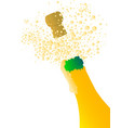 popping champagne vector image vector image