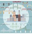 Portland OregonUSA flat design of business center vector image vector image