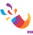 Rainbow bright logo of shofar vector image vector image