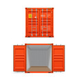 realistic set of bright red cargo containers vector image vector image