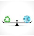 recycle symbol and global both are equal vector image