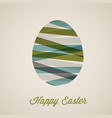retro paper easter egg card poster vector image vector image