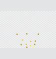 round gold confetti vector image