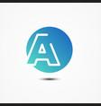 round symbol letter a design minimalist vector image vector image