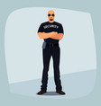 security guard crossed arms on his chest vector image vector image