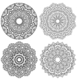 Set of ethnic round ornaments vector image