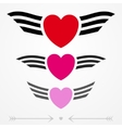 Simple graphic love emblems vector image vector image