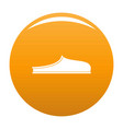 slippers icon orange vector image vector image