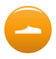 slippers icon orange vector image