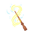 spell wand with sparkling dust or powder swirling