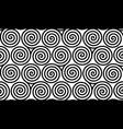 spiral celtic triskels seamless pattern vector image
