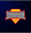 sport emblem typography super power hero logotype vector image
